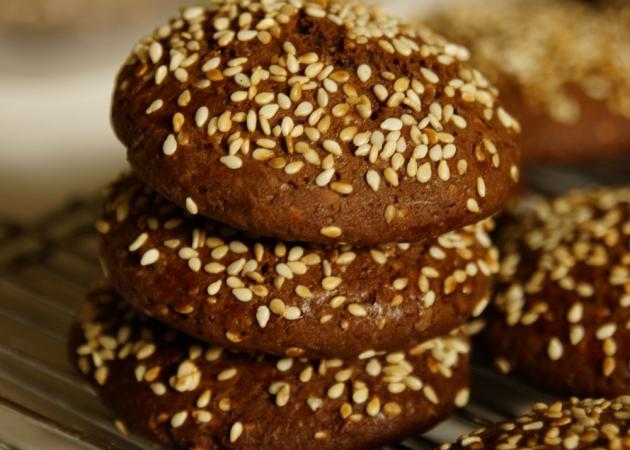 Ciasteczka kakaowo sezamowe z nutellą