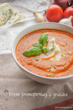 Krem pomidorowy z gruszką