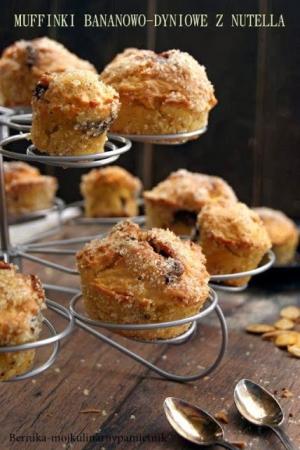 Muffinki bananowo-dyniowe z nutellą