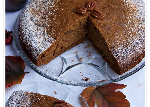 Ciasto z dynią i orzechami pecan