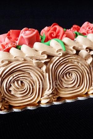 Tort kwiatowy - czekoladowy