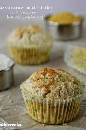Kokosowe muffinki z dodatkiem kaszy jaglanej