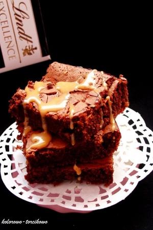 Brownie z kajmakiem ( z krówką )