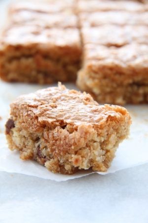 Batoniki kokosanki (kokosowe blondies)