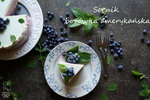 Jogurtowy sernik na zimno z borówką amerykańską