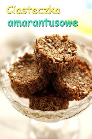 Ciasteczka amarantusowe, bezglutenowe, bez cukru