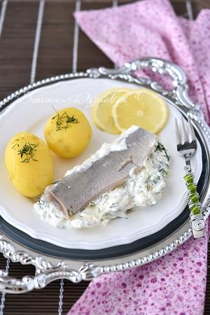 Matjas z ziemniakami