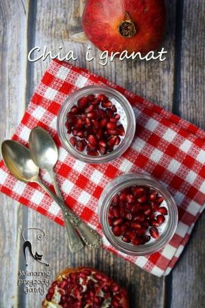 Zdrowe śniadanie: pudding chia z granatem