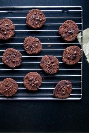 Czekoladowe ciasteczka z czerwonej  fasoli