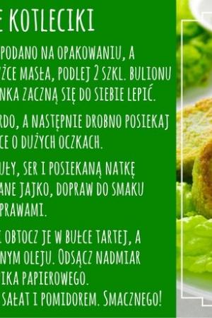 Przepis na wegetariańskie kotleciki z brokuła, ryżu i sera